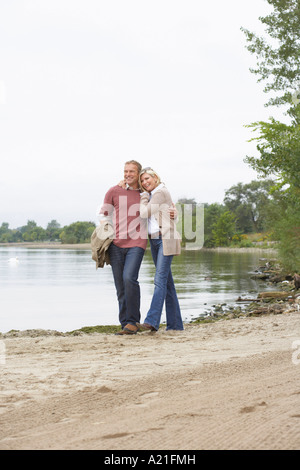 Couple Walking Outdoors, Sunnyside Park. Toronto, Ontario, Canada