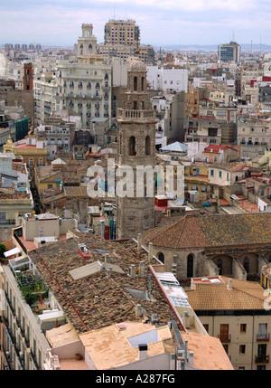 Vue panoramique sur Valence Comunidad Valenciana Comunitat Micalet Miguelete Costa del Azahar España Espagne Espagnol Banque D'Images