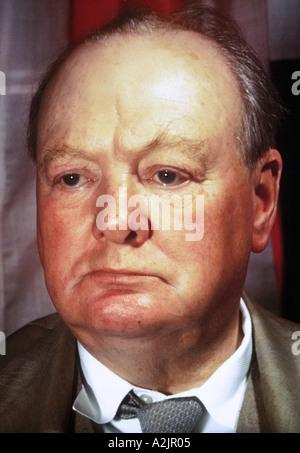 SIR WINSTON CHURCHILL 1874 1965 homme d'État britannique et auteur Banque D'Images