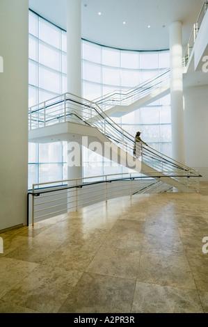 Détail de l'intérieur, le Getty Center, Los Angeles, Californie, USA Banque D'Images