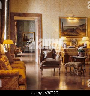 Salon de Napoléon III dans la Residenza Palazzo Ruspoli à Rome