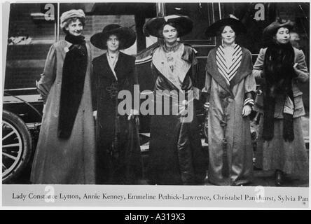 Des suffragettes Banque D'Images
