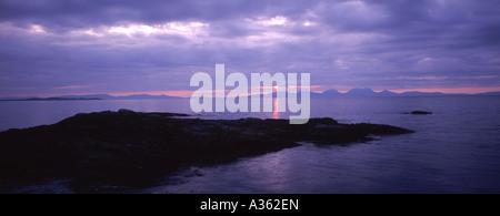 Coucher du soleil sur l'île de Jura Argyll et Bute GPAN 0025 Banque D'Images