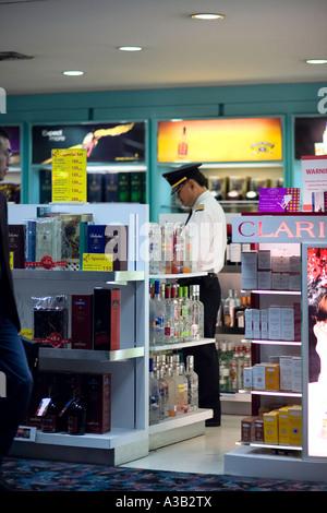 Duty free shop de l'Aéroport International de Bangkok Thailande Asie Banque D'Images