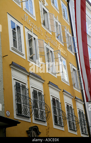 Maison natale de Wolfgang Amadeus Mozart à Salzbourg Autriche Banque D'Images
