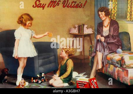 Mc Vitie s cookies publicitaires anciens 1930 Banque D'Images