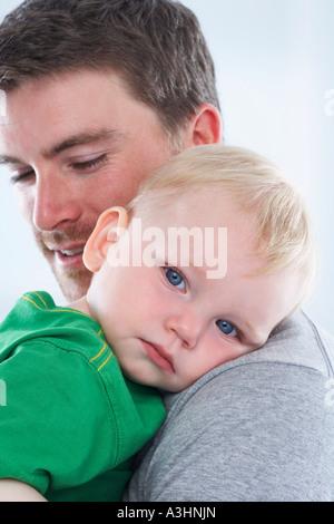 Portrait de père et fils Banque D'Images