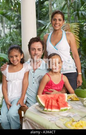 Portrait de famille Banque D'Images