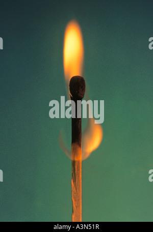 Allumettes en feu Banque D'Images