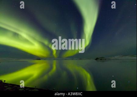 Aurora Borealis, Northern Lights, de l'Islande Banque D'Images