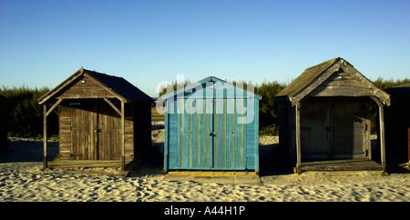 Cabines de plage, West Wittering, West Sussex, UK