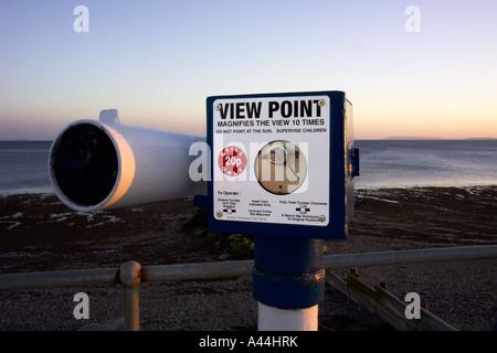 Point de vue télescope, East Wittering, UK