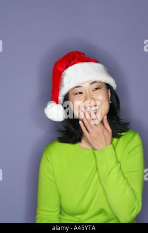 Portrait de jeune femme tricophore Banque D'Images