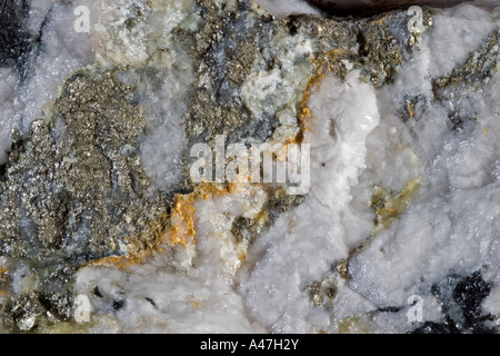 L'échantillon à haute teneur de minerai d'or à partir de la mine souterraine, le Ghana, l'Afrique de l'Ouest Banque D'Images
