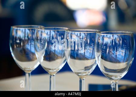 Gros plan du wineglasses Banque D'Images