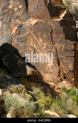 Parowan gap pétroglyphes, Utah