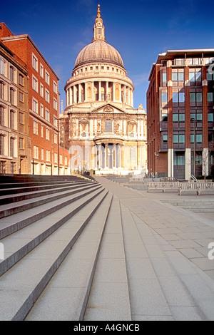 La Cathédrale St Paul à Londres. Banque D'Images