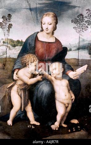 'Madonna del Cardellino', 1507. Artiste: Raphael Banque D'Images