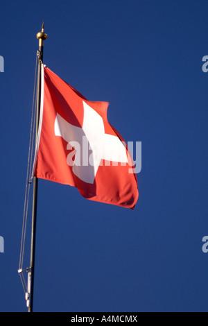 Le drapeau suisse. Banque D'Images