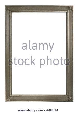 Cadre photo cannelé argent - découper sur fond blanc Banque D'Images