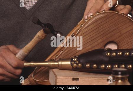 La main soufflet cheminée traditionnelle Banque D'Images