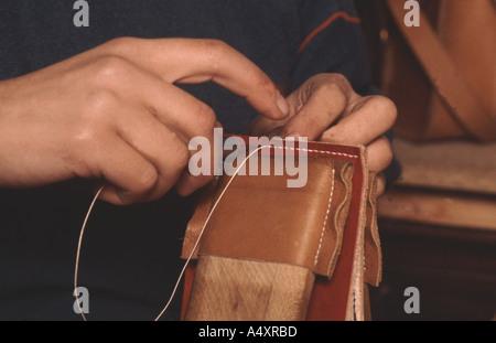 Fait à la main cheminée traditionnelle bellows Banque D'Images