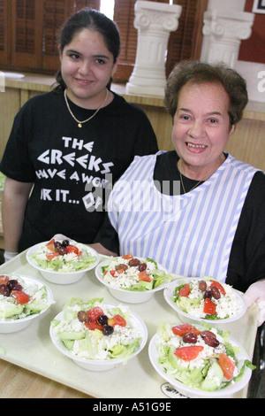 Coral Gables Miami Floride Saint Sophia cathédrale orthodoxe grecque salade Festival des aliments ethniques de la Banque D'Images