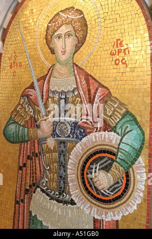 Coral Gables Miami Floride Saint Sophia cathédrale grecque orthodoxe d'art religieux de la mosaïque médiévale Banque D'Images