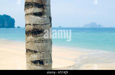 La mer d'Andaman du sud de la Thaïlande Krabi Koh Poda Island à l'horizon Banque D'Images