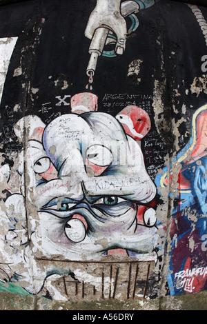 """""""Le Mur"""" Détail, Berlin, Allemagne Banque D'Images"""