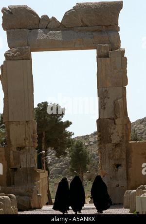 Les ruines de Persépolis en Iran Banque D'Images