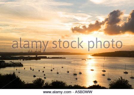 Haven Waterway Pembrokeshire Wales Pembroke Banque D'Images