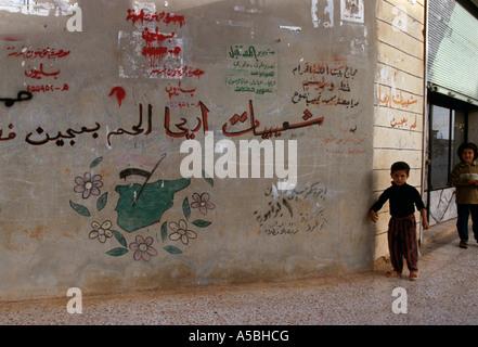 Graffiti sur un mur en Syrie