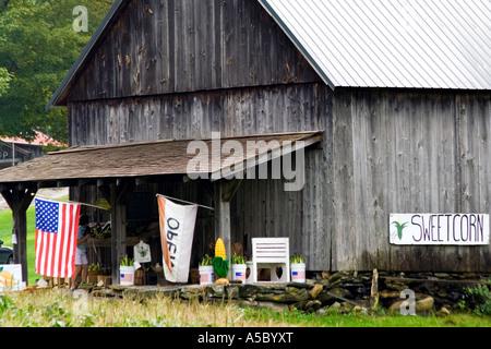 Country Store Marché fermier en bordure de la Nouvelle Angleterre rurale est des États-Unis