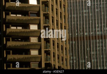 Barbican ensemble immobilier dans la ville de Londres. part à la propriété privée d'autres pouvoirs locaux Banque D'Images