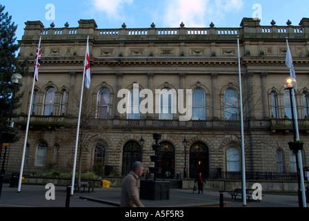 Façade de l'Hôtel de Ville bâtiment Blackburn Lancashire UK Banque D'Images