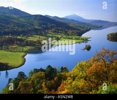 Fr - Scotland: Loch Tummel de Queen's View à Tayside Banque D'Images