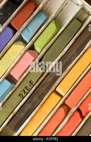 Craie de couleur pastel de l'artiste. Banque D'Images