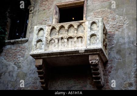 Juliets balcon à Vérone Italie Banque D'Images