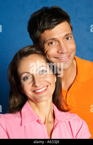 Portrait of a young couple smiling Banque D'Images