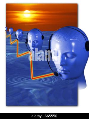 La communication concept abstrait idée Effets spéciaux Banque D'Images