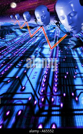 La communication concept abstrait Effets spéciaux Banque D'Images