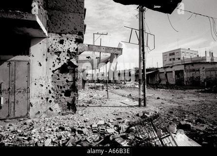 La ville de Rafah, dans la bande de Gaza Banque D'Images