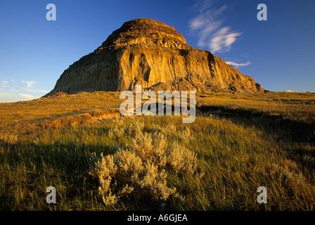 Castle Butte Big Muddy Badlands Saskatchewan Canada Banque D'Images