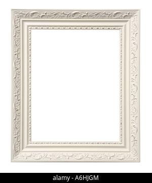 Découper le cadre photo sur fond blanc Banque D'Images