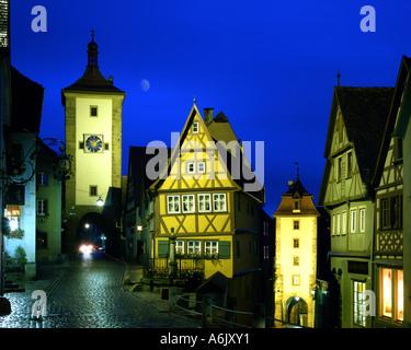 DE - La Bavière: le Plönlein Gate à Rothenburg-ob-der-Tauber Banque D'Images