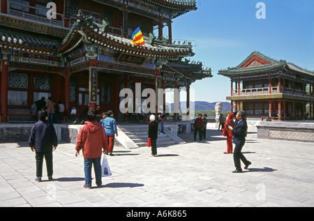 Scène de l'opéra au jardin de l'harmonie vertueuse au Palais d'été Site du patrimoine mondial de l'Asie chinoise Banque D'Images
