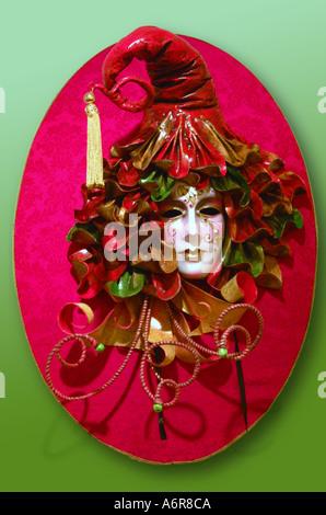 Carnaval vénitien masque de papier mâché papier mâché de dame Banque D'Images