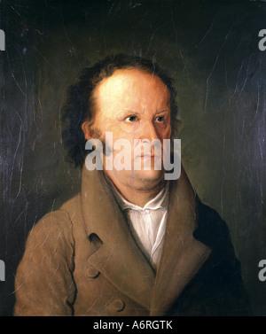 Paul, Jean, 21.3.1763 - 14.11.1825, l'auteur allemand / écrivain, portrait, peinture de Friedrich Meier, Johann Paul Richter, poète, fi