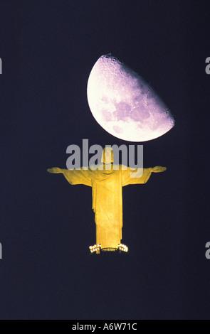 Statue du Christ rédempteur de Rio de Janeiro Brésil Corcovado Banque D'Images